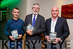 Tom Hanlon and Cathal Foley with Sinn Féin President Gerry Adams TD at the launch of 'Ireland's Hunger for Justice' at The Rose Hotel on Thursday