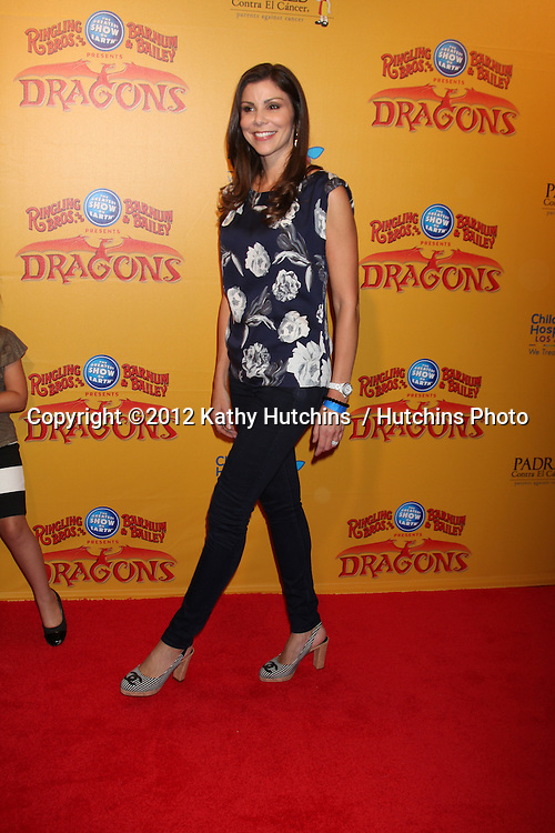 LOS ANGELES - JUL 12:  Heather Dubrow arrives at 'Dragons' presented by Ringling Bros. & Barnum & Bailey Circus at Staples Center on July 12, 2012 in Los Angeles, CA