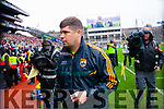 Eamon Fitzmaurice, Kerry Manager, after defeating Tyrone in the All Ireland Semi Final at Croke Park on Sunday.