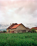 SWITZERLAND, Bouvresse, farm house in the countryside, Jura Region