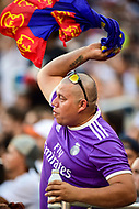 Landover, MD - August 4, 2018: A fan is pumped up during the match between Juventus and Real Madrid at FedEx Field in Landover, MD.   (Photo by Phillip Peters/Media Images International)