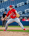 26 February 2019: St. Louis Cardinals pitcher Ryan Helsley on the mound during a Spring Training game against the Washington Nationals at the Ballpark of the Palm Beaches in West Palm Beach, Florida. The Cardinals defeated the Nationals 6-1 in Grapefruit League play. Mandatory Credit: Ed Wolfstein Photo *** RAW (NEF) Image File Available ***
