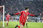20.02.2018, Allianz Arena, M&uuml;nchen, GER, UEFA CL, FC Bayern M&uuml;nchen (GER) vs Besiktas Istanbul (TR) , im Bild<br />Robert Lewandowski (M&uuml;nchen) freut sich &uuml;ber das Tor zum 4:0<br /><br /><br /> Foto &copy; nordphoto / Bratic
