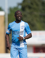 Ruel Fox (Ex Pro Footballer) of Celeb FC during the 'Greatest Show on Turf' Celebrity Event - Once in a Blue Moon Events at the London Borough of Barking and Dagenham Stadium, London, England on 8 May 2016. Photo by Andy Rowland.