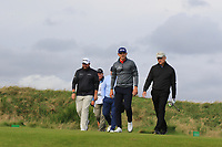 Shane Lowry (IRL) and Matt Wallace (ENG) on the 4th fairway during Round 2 of the Alfred Dunhill Links Championship 2019 at Kingbarns Golf CLub, Fife, Scotland. 27/09/2019.<br /> Picture Thos Caffrey / Golffile.ie<br /> <br /> All photo usage must carry mandatory copyright credit (© Golffile | Thos Caffrey)