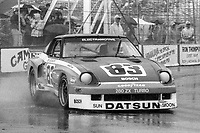 #83 Datsun 280ZX Turbo of Don Devendorf races on the track during the Budweiser Grand Prix of Miami, Bicentennial Park, Miami, FL, February 27, 1983(Photo by Brian Cleary/bcpix.com)