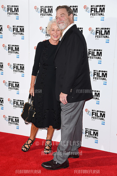 Dame Helen Mirren &amp; John Goodman at the photocall for &quot;Trumbo&quot; at the Corinthia Hotel, London.<br /> October 8, 2015  London, UK<br /> Picture: Steve Vas / Featureflash