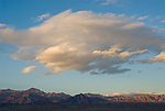 Clouds at sundown over the mountains surrounding Death Valley, Calif.