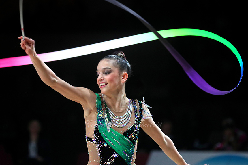Sara Llana of Spain performs at Thiais Grand Prix on March 25, 2018.