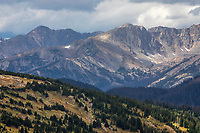 Mountains and forests are predominant features of Rocky Mountain National Park, Colorado