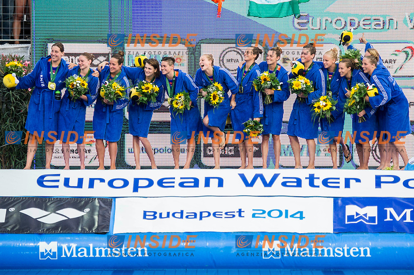 Podium<br /> Netherlands Silver Medal<br /> LEN European Water Polo Championships 2014 - July 14-27<br /> Alfred Hajos -Tamas Szechy Swimming Complex<br /> Margitsziget - Margaret Island<br /> Day13 Men - July 26<br /> Photo Guido Barbagelata/Inside/