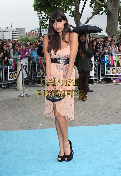 Jameela Jamil .Horrible Bosses UK Premiere, BFI, London, England..20th July 2011.full length pink floral print dress black belt shoes clutch bag.CAP/WIZ.© Wizard/Capital Pictures.