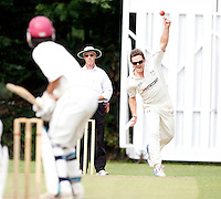 Craig Gourlay bowls for Highgate during the Middlesex County League Division Three game between Highgate and Bessborough at Park Road, Crouch End on Sat Sept 4, 2010