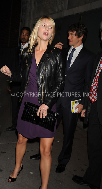 WWW.ACEPIXS.COM . . . . .  ....October 22 2009, New York City....Claire Danes outside the American Airlines Theatre following the opening night performance of 'After Miss Julie' on October 22 2009 in New York City....Please byline: AJ Sokalner - ACEPIXS.COM..... *** ***..Ace Pictures, Inc:  ..tel: (212) 243 8787..e-mail: info@acepixs.com..web: http://www.acepixs.com