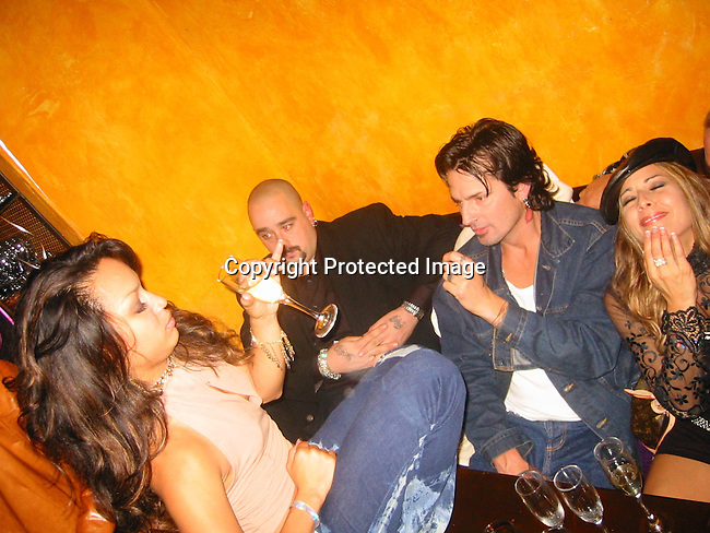 Mayte, Tommy Lee &amp; Friends<br />Nelly Furtado's 23th Birthday Party<br />Bar fly Club Restaurant<br />December 02, 2001<br />Los Angeles, Ca USA<br />Photo By CelebrityVibe.com