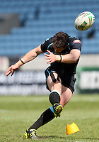 PICTURE BY MARK GREEN/SWPIX.COM...Rugby League - Carnegie Challenge Cup 4th Round  - London Broncos v Dewsbury Rams , 'The Stoop, Twickenham, England - 15/04/12... London Bronco's Michael Witt converts a try in the 1st half