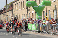 Picture by SWpix.com - 05/05/2018 - Cycling - 2018 Tour de Yorkshire - Stage 3: Richmond to Scarborough - the breakaway passes the Intermediate sprint TEAM RALLY
