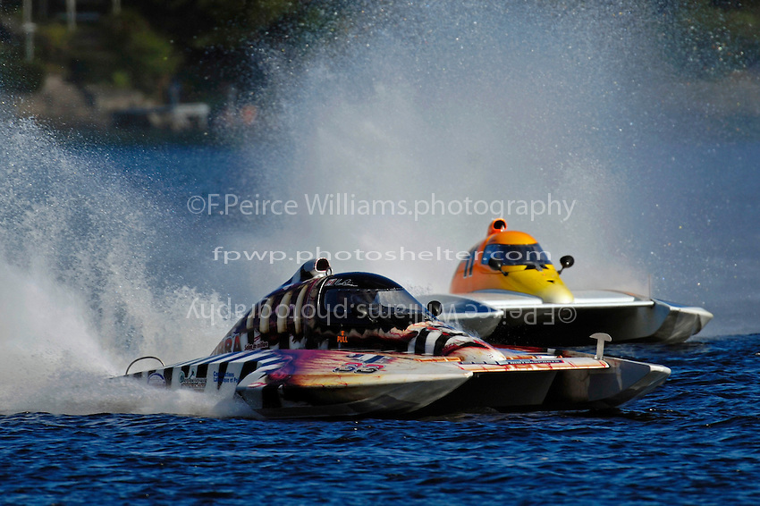 "Marco Poirier, CS-33 ""Le Zibra"" and Steve Armstrong, CS-11 ""Total Chaos"" (2.5 Litre Stock hydroplane(s)"