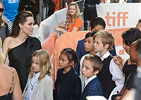 11 September 2017 - Toronto, Ontario Canada - Angelina Jolie, Vivienne Jolie-Pitt, Sareum Srey Moch, Knox Jolie-Pitt, Shiloh Jolie-Pitt, Zahara Jolie-Pitt, Pax Jolie-Pitt, Loung Ung, Kimhak Mun. 2017 Toronto International Film Festival - &quot;First They Killed My Father&quot; Premiere held at Princess of Wales Theatre. <br /> CAP/ADM/BPC<br /> &copy;BPC/ADM/Capital Pictures