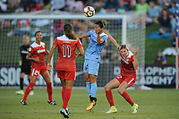 Boyds, MD -Saturday August 26, 2017: Mallory Pugh, Yuki Nagasato, Alyssa Kleiner during a regular season National Women's Soccer League (NWSL) match between the Washington Spirit and the Chicago Red Stars at Maureen Hendricks Field, Maryland SoccerPlex.