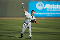 Lynchburg Hillcats starting pitcher Justin Garza (36) warms up in the outfield prior to the game against the Winston-Salem Dash at BB&T Ballpark on May 3, 2018 in Winston-Salem, North Carolina. The Dash defeated the Hillcats 5-3. (Brian Westerholt/Four Seam Images)