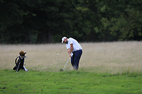 Jack Senior (ENG) in the rough on the 18th during Round 1 of the Bridgestone Challenge 2017 at the Luton Hoo Hotel Golf &amp; Spa, Luton, Bedfordshire, England. 07/09/2017<br /> Picture: Golffile   Thos Caffrey<br /> <br /> <br /> All photo usage must carry mandatory copyright credit     (&copy; Golffile   Thos Caffrey)