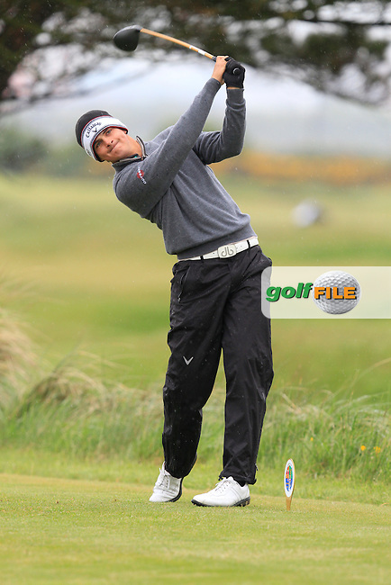Christiaan Bezuidenhout (South Africa) on the 5th tee during the Round 1 of The Irish Amateur Open Championship in The Royal Dublin Golf Club on Thursday 8th May 2014.<br /> Picture:  Thos Caffrey / www.golffile.ie