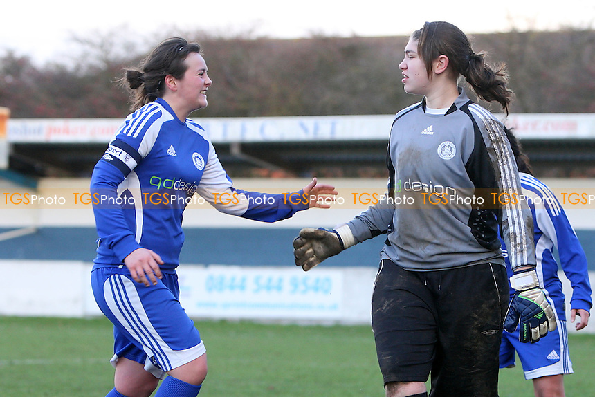 West Ham have a penalty kick saved and Billericay celebrate - Billericay Town Ladies vs West Ham United Ladies - Essex FA Women's Cup Quarter-Final at New Lodge, Billericay - 15/01/12 - MANDATORY CREDIT: Gavin Ellis/TGSPHOTO - Self billing applies where appropriate - 0845 094 6026 - contact@tgsphoto.co.uk - NO UNPAID USE.