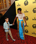 Heather Headley and Family attends the 20th Anniversary Performance of 'The Lion King' on Broadway at The Minskoff Theatre on November e, 2017 in New York City.