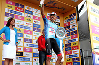 LLANOGRANDE - COLOMBIA, 14-02-2019: Juan Sebastián Molano, (COL) de UAE Emirates, ganador de la tercera etapa del Tour Colombia 2.1 2019 con un recorrido de 167.6 Km, que se corrió en un circuito con salida y llegada en el Complex Llanogrande. / Juan Sebastián Molano, (COL) of UAE Emirates, winner of the third stage of the Tour Colombia 2.1 2019 the third stage of the Tour Colombia 2.1 2019 with a distance of 167.6 km, which was run on a circuit with start and finish at the Complex Llanogrande. Photo: VizzorImage / Anderson Bonilla / Cont.