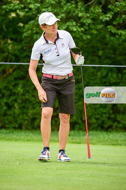 Catriona Matthew (SCT) watches her tee shot on 11 during Thursday's round 1 of the 2017 KPMG Women's PGA Championship, at Olympia Fields Country Club, Olympia Fields, Illinois. 6/29/2017.<br /> Picture: Golffile | Ken Murray<br /> <br /> <br /> All photo usage must carry mandatory copyright credit (&copy; Golffile | Ken Murray)