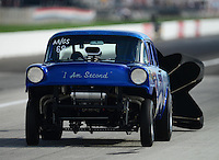 Aug. 31, 2012; Claremont, IN, USA: NHRA AA/GS driver XXXX during qualifying for the US Nationals at Lucas Oil Raceway. Mandatory Credit: Mark Rebilas-