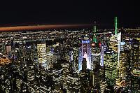 NEW YORK, NY, EUA - 15.08.2015 - TURISMO-EUA - Vista da cidade de Nova Iorque a partir do Empire State Building que é um arranha-céu de 102 andares de estilo Art déco localizado na 5ª Avenida com a West 34th Street na cidade de Nova York neste sabado, 15. (Foto: Vanessa Carvalho/ Brazil Photo Press)