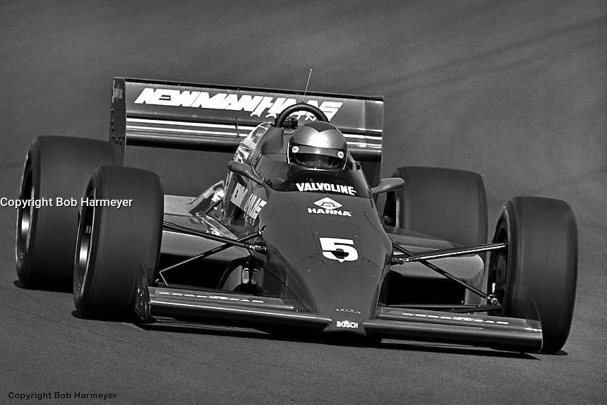 PHOENIX, AZ - APRIL 6: Mario Andretti drives his Lola T86/00/Cosworth in the Dana 200 on April 6, 1986, at Phoenix International Raceway near Phoenix, Arizona.