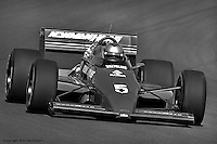 PHOENIX, AZ - APRIL 6: Mario Andretti drives his Lola T86/00/Cosworth in the Dana 200 on April 6, 1986, at Phoenix International Raceway near Phoenix, Arizona.