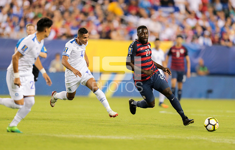 Philadelphia, PA - Wednesday July 19, 2017: Jozy Altidore during a 2017 Gold Cup match between the men's national teams of the United States (USA) and El Salvador (SLV) at Lincoln Financial Field.