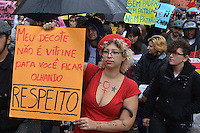 SÃO PAULO, SP, 24.05.2014 – MARCHA DAS VADIAS: A 4a Marcha das Vadias começa na Av. Paulista na tarde deste sábado em São Paulo. (Foto: Ben Tavener / Brazil Photo Press).