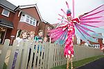 Redrow Homes - Nant Y Rhosyn<br /> St Clears<br /> L-R: Efa Williams, Ben Morris, Sara Morris &amp; Cadi Williams.<br /> 12.10.13<br /> <br /> &copy;Steve Pope-FOTOWALES