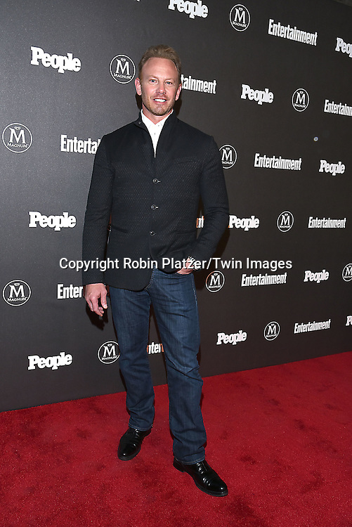 Ian Ziering attends the Entertainment Weekly &amp; PEOPLE Magazine New York Upfronts Celebration on May 16, 2016 at Cedar Lake in New York, New York, USA.<br /> <br /> photo by Robin Platzer/Twin Images<br />  <br /> phone number 212-935-0770