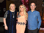 Courtney Waters celebrating her 18th birthday with godparents Shirley Waters and Aidan Brady in The Venue at McHugh's. Photo:Colin Bell/pressphotos.ie