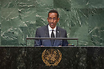 General Assembly Seventy-third session, 14th plenary meeting<br /> <br /> 	<br /> <br /> His Excellency Ahmed Awad ISSE Minister for Foreign Affairs of Somalia