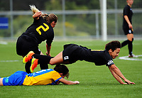 Action from the 2017 National Women's League football match between Capital and Southern at the Memorial Park in Petone, New Zealand on Sunday, 26 November 2017. Photo: Dave Lintott / lintottphoto.co.nz