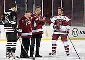 Nolan Julseth-White (Union - 2), Mark Walsh, Bill Cleary, Scott Farden, Ryan Grimshaw (Harvard - 6) - The Union College Dutchmen defeated the Harvard University Crimson 2-0 on Friday, January 13, 2012, at Fenway Park in Boston, Massachusetts.