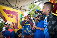 The weather wasn't able to dampen the fans spirits during Afghanistan vs Sri Lanka, ICC World Cup Cricket at Sophia Gardens Cardiff on 4th June 2019