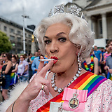 Her majesty the Queen at the Leeds Pride march
