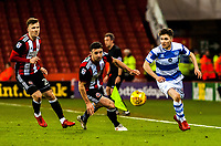 Queens Park Rangers midfielder Ilias Chair (33) turns back inside during the Sky Bet Championship match between Sheff United and Queens Park Rangers at Bramall Lane, Sheffield, England on 20 February 2018. Photo by Stephen Buckley / PRiME Media Images.