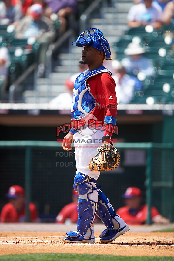 Buffalo Bisons catcher Wilkin Castillo (32) during a game against the Scranton/Wilkes-Barre RailRiders on July 2, 2016 at Coca-Cola Field in Buffalo, New York.  Scranton defeated Buffalo 5-1.  (Mike Janes/Four Seam Images)