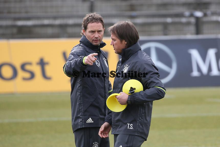 Co-Trainer Marcus Sorg und Thomas Schneider - Training der Deutschen Nationalmannschaft, Wurfplatz Berlin