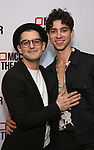 """Wesley Taylor and Isaac Powell attends the opening night performance after party for the MCC Theater's 'Alice By Heart' at Kenneth Cole's """"The Garage"""" on February 26, 2019 in New York City."""