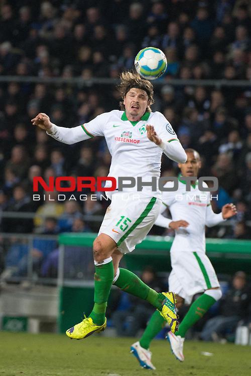 04.03.2015, Sch&uuml;coArena, Bielefeld, GER, DFB Pokal 14/15, ACHTELFINALE, Arminia Bielefeld vs Werder Bremen, im Bild<br /> <br /> <br /> Sebastian Pr&ouml;dl / Proedl (Bremen #15)<br /> <br /> <br /> <br /> Foto &copy; nordphoto / Kokenge